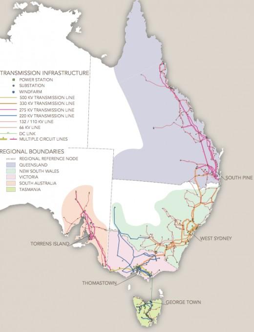 Eastern Australia - Queensland, NSW, South Australia, Australian Capital Territory, Victoria, and Tasmania