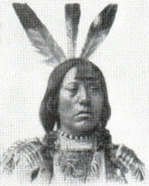 Mandan adult male, 1914. He is seen on the far left, front row of the Three Affiliated Tribes photo featured above.