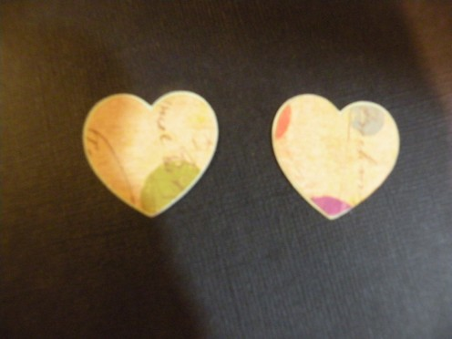 Smaller hearts layers adhered