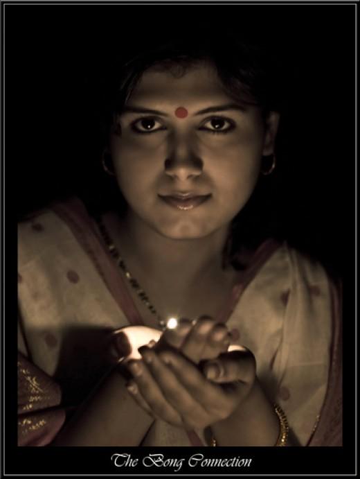 A religious Bengali female