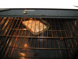 Place scallops in 400 degree oven for baking-at least 20 minutes.