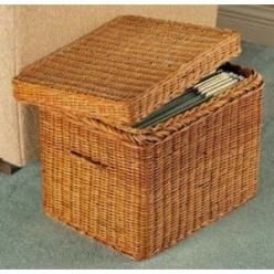 Wicker Letter File Basket from Miles Kimball