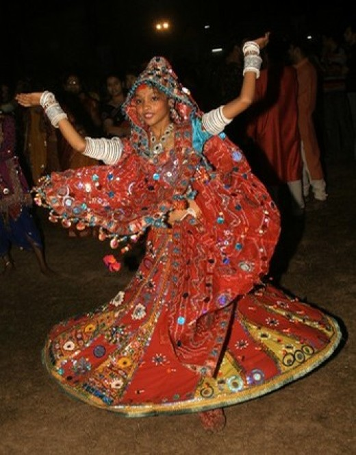 A Garba dancer from gujarat