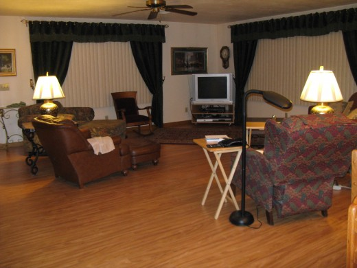 My Living Room with Wood Laminate Floor