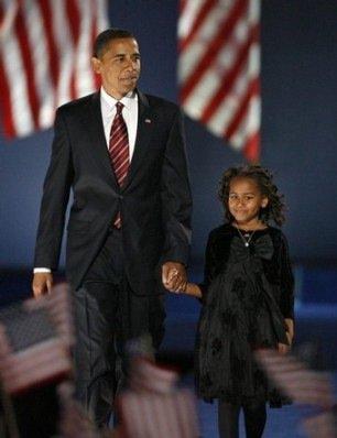 A young Sasha Obama wearing Bonnie Jean Dress