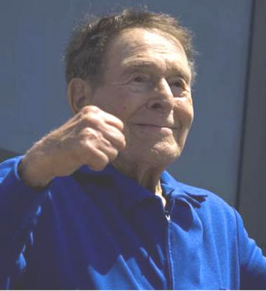 Jack Lalanne, seen here receiving a Lifetime Achievement Award, was an example of the importance of fitness and nutrition until age 96