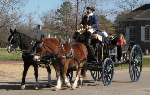 Guided tours by carriage are available