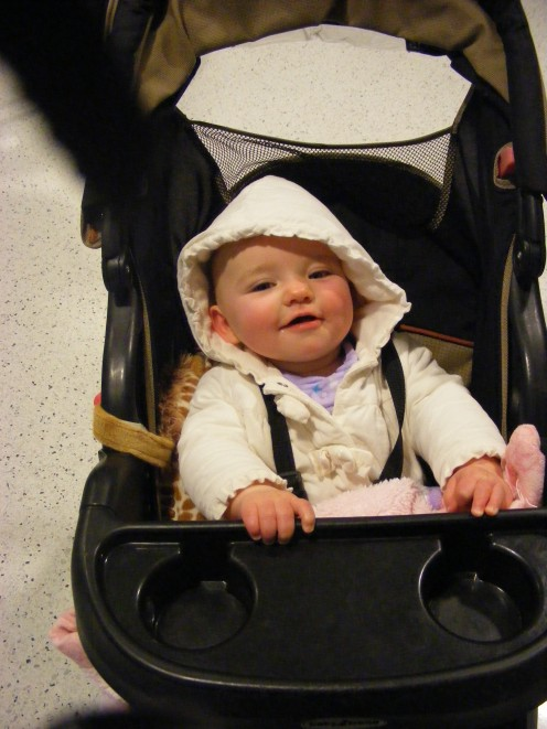 The familiarity of your child's stroller will help comfort your baby during her new adventures.