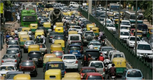 Driving in this traffic- not so hard as you might feel!