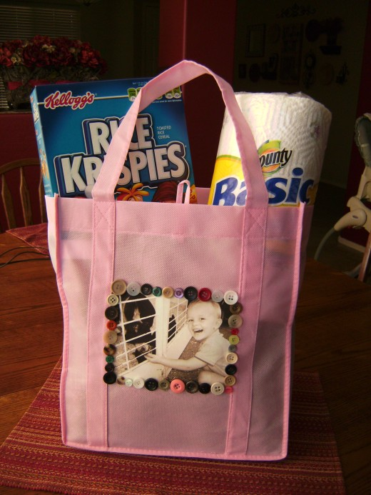 Personalize a boring grocery bag with your own photos