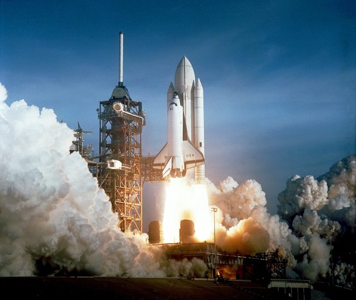"The Maiden Shuttle Program Launch of  ""Columbia"" on April 12, 1981."
