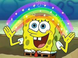 Note the background is not very detailed.  Spongebob is (his holes are always in the same locations, believe it or not)