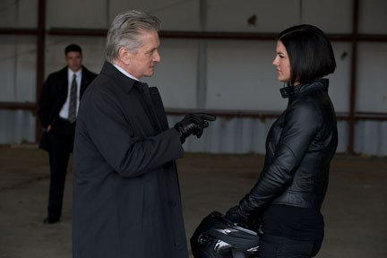 "Douglas and Carano have a meeting of the minds in ""Haywire."""