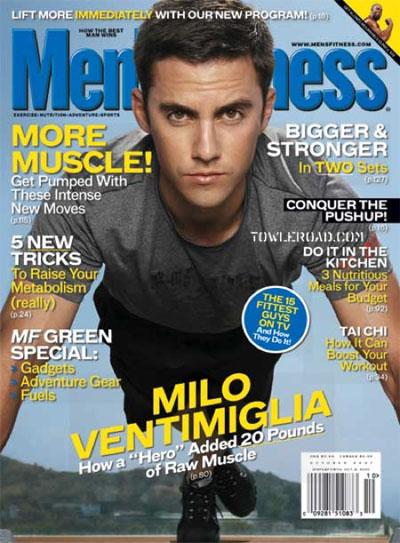 Milo Ventimiglia on the cover of Men's Fitness magazine
