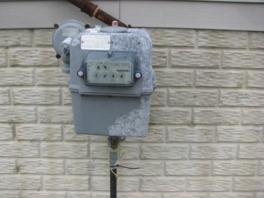Condition of utility gas meter