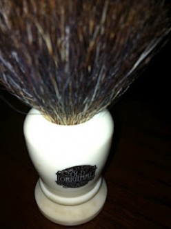Wet shaving:  badger brushes are important for a close shave