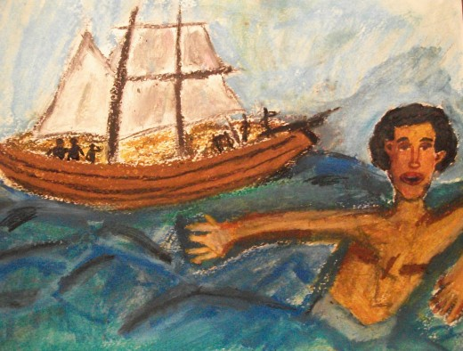 Escape-Many preferred to take their chances in shark-infested waters rather than endure the journey across the sea in chains. Many of these were lost at sea. The Middle Passage, as it came to be known, was in essence our holocaust.