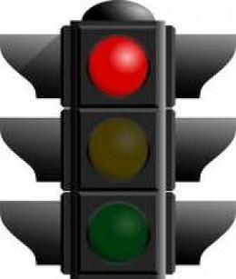 red light signals