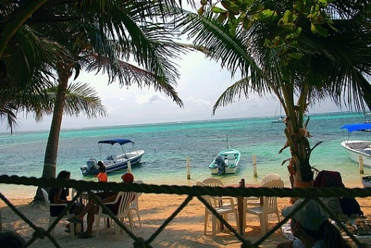 Breakfast on the beach in San Pedro, Belize