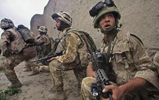 Next Tony had us in Afghanistan, chasing after the Taliban - most of them from outside the country, (including Birmingham and Leeds)