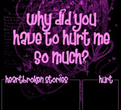 Poem about being hurt especially girls