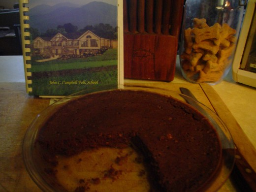 Microwave Brownie Pie  by Jacki Carpenter Thigpen