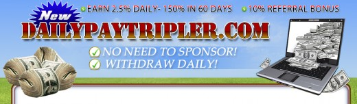 Daily Pay Tripler, another HYIP scam