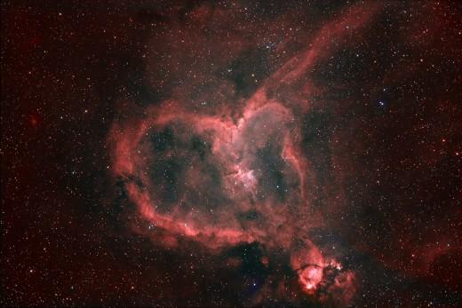 Heart shaped nebula