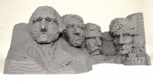 Spectacular Mount Rushmore made entirely of Lego.