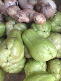 Chayote and Ginger
