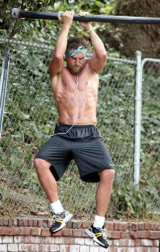 Matthew McConaughey has been known to do a few pull-ups anywhere he can.