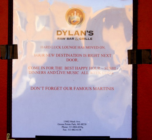 Notice on Door of Hard Luck Lounge