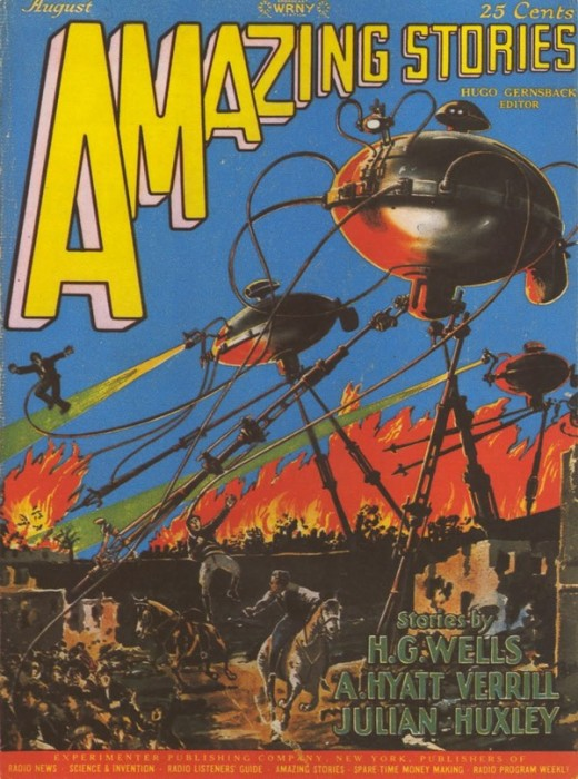 Amazing Stories - august 1927, art by Frank R. Paul