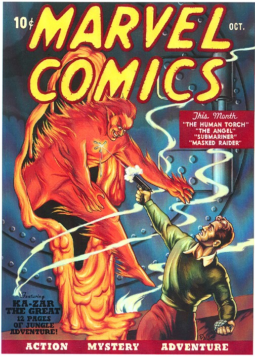 Marvel Comics #1 1939, Art by Frank R. Paul