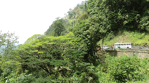 Kandy-Colombo Highway running through Kadugannawa Pass.
