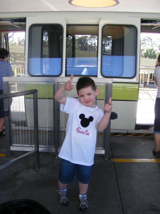 We love riding the monorail to the Magic Kingdom and Epcot.  It's an attraction for our preschooler and infants can roll right on the monorail in their strollers!