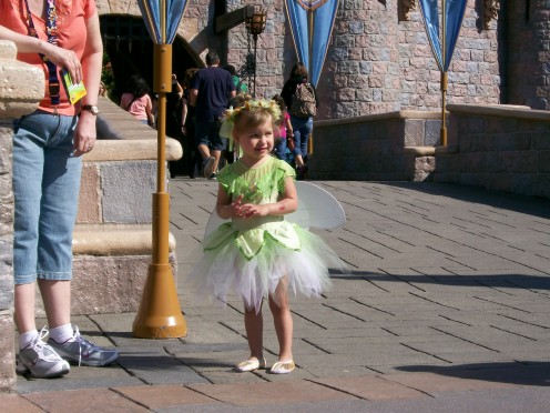 Raven as Tinkerbell at Disneyland