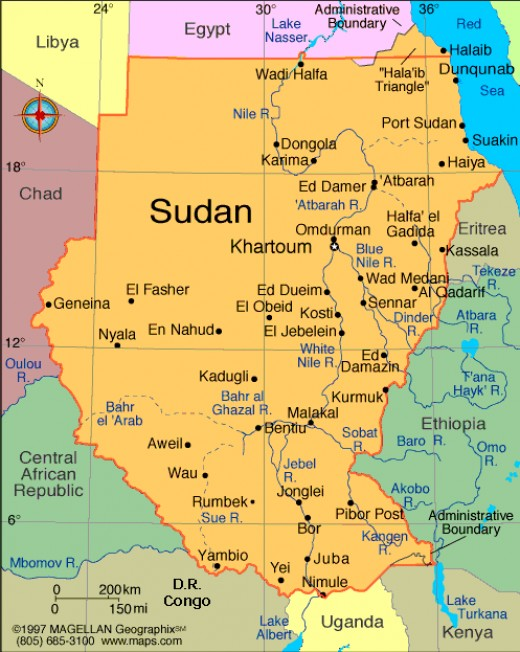 Map of the Sudan