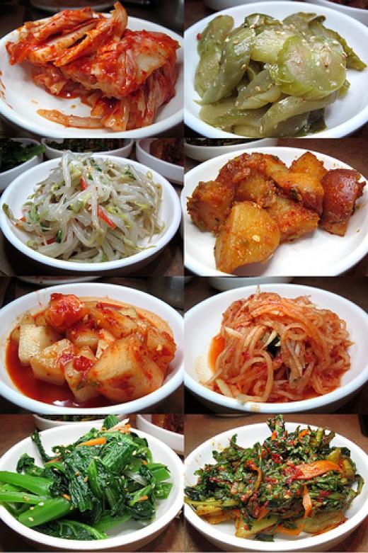 a variety of Banchan