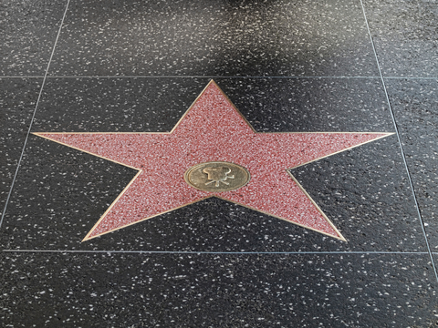 A star awaits for a name on the Hollywood Walk of Fame in Hollywood, California