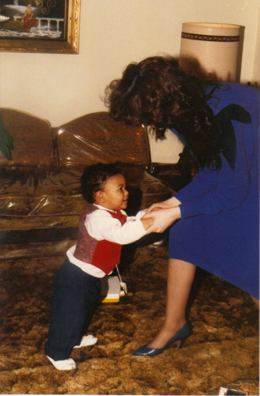 Me and my son Michael dancing.