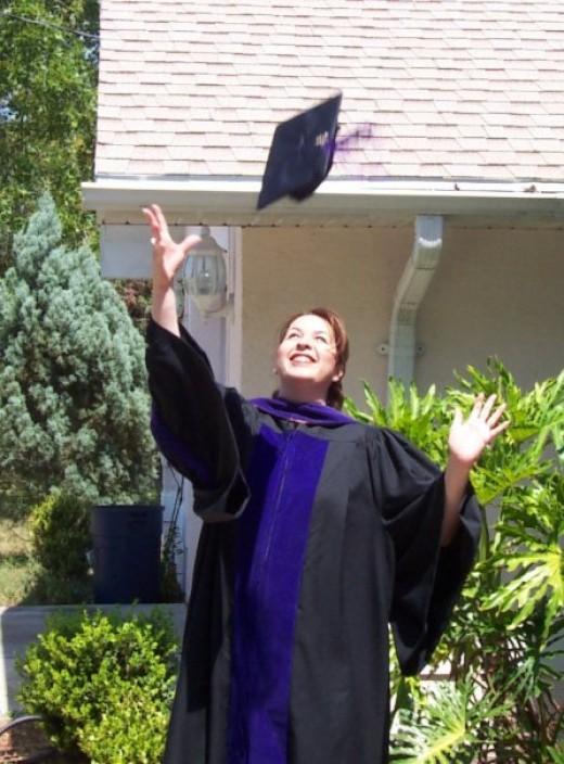 Me on law school graduation day