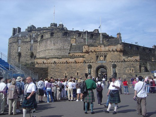 Edinburgh Castle, built on top of an extinct Volcano.