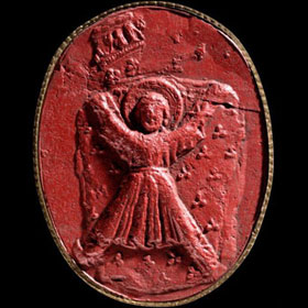 A 19th Century cast of the Great Seal of the Guardians of Scotland.