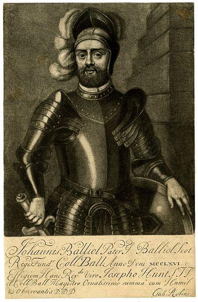 John Balliol as depicted by artist, William Robins