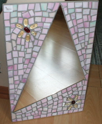 stained glass cut and tumbled