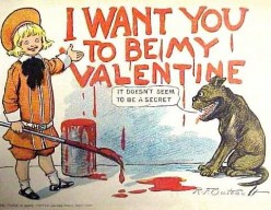 I thought this was a fun, Buster Brown Image.  Too cute!  A cute, child's Valentine.