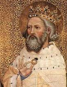 King Eadward in later years - in 1051 he still had no heir. Was he likely to see an heir with Godwin's eldest daughter Eadgytha? When Godwin and his clan left England the queen was sent to a convent at Wilton. The king wanted a new queen!