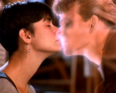Demi Moore and Patrick Swayze in Ghost.