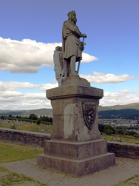 A Statue of the Robert the Bruce at Stirling Castle